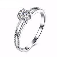 925 Sterling Silver Ring Engagement Zirconia Rings For Women