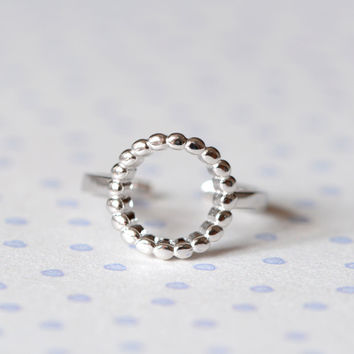 Jewelry Shiny Gift New Arrival 925 Stylish Simple Design Hollow Out Silver Ring [8380558727]
