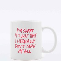 I Don't Care Mug - Urban Outfitters