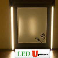MAKE UP MIRROR LED Light Dual 2ft VANITY MIRROR LIGHT SET Warm White color WITH UL Power adapter ...