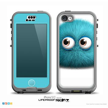 The Teal Fuzzy Wuzzy Skin for the iPhone 5c nüüd LifeProof Case