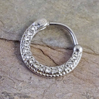 Silver Daith Piercing Rook Earring Clicker