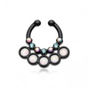 Colorline Opal Aureole Gemina Fake Septum Clip-On Ring