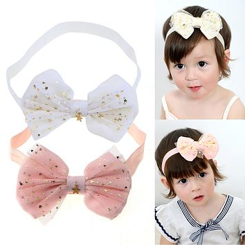 Lace Baby Flower Headband Girls Head Band Head wear Hair Bow Accessories Kid Girls Headbands