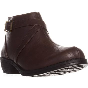 Easy Street Shannon Ankle Booties, Tan, 9.5 W US