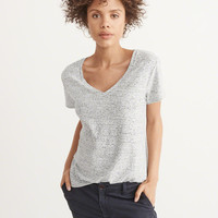 Womens V-Neck Boyfriend Tee | Womens New Arrivals | Abercrombie.com