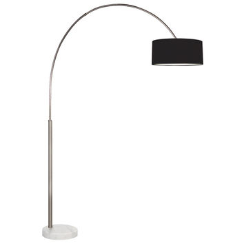 Sonneman 4097.13K Arc Shade Satin Nickel 78.5-Inch One Light Floor Lamp