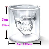 Transparent Crystal Skull Head Shot Glass Cup