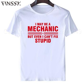 New Mechanic Fix Everything Birthday Gift Father's Day Funny T SHIRT Men Casual College Printed T-shirt tshirt XXXL