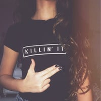 Killin It Tee Fashion Street Punk Tshirt