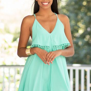 Racing Hearts Dress in Mint | Monday Dress