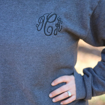 Monogram Sweat Shirt, Greek Embroidery Available