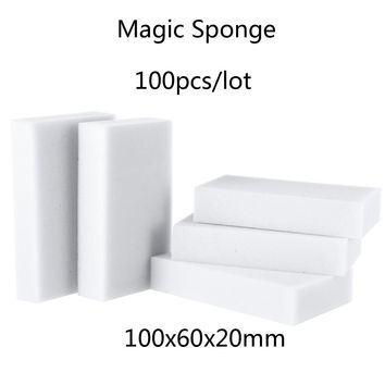 100 pcs Magic Sponge Eraser Kitchen Office Bathroom Clean Accessory/Dish Cleaning