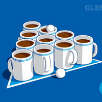 $17.95 Coffee Pong - A Glennz Tees Original T-Shirt