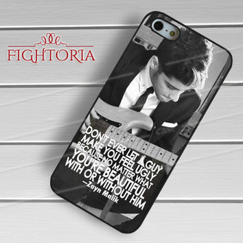 Zayn Malik Quote BW - zFzF for  iPhone 6S case, iPhone 5s case, iPhone 6 case, iPhone 4S, Samsung S6 Edge