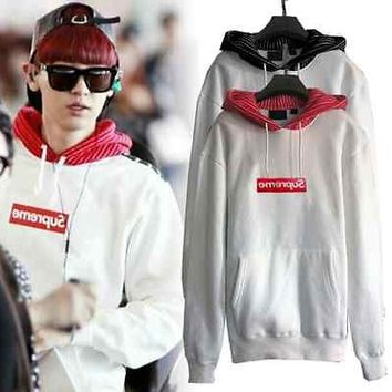 KPOP EXO Chanyeol Same Style Hoodie Skate Boy Hiphop Sweater Fleece Lovers Hoody
