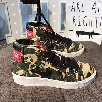 Supreme x Nike Retro Air Jordan Sky High OG Mid Duck Camo Shoes Sport Basketball Shoes