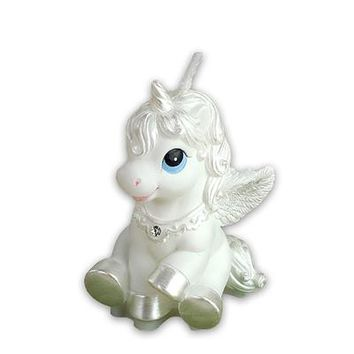 Children's party supplies birthday candle candle bestie horse white horse to send small Pegasus Fantasy Zodiac candle