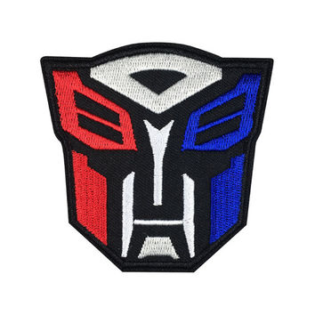 Transformers Autobot Patch Embroidered animation Iron On Sew On Patches