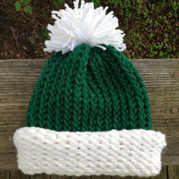 Baby Infant Elf Knitted Winter Christmas Hat