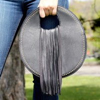 Small Round Purse with Fringe