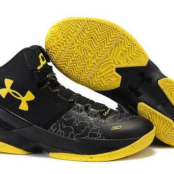 DCCKL8A Jacklish Curry 2 Under Armour Shoes Batman Black Yellow Online