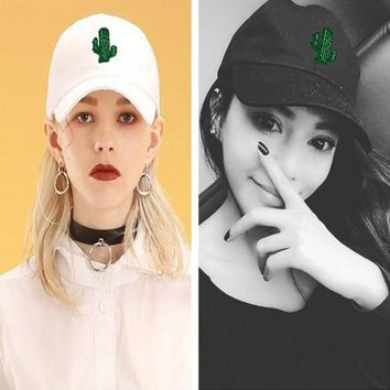 LMFON The cactus   BAD HAIR DAY Washed Cotton Adjustable Solid color Baseball Cap