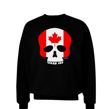 Skull Flag Canada Adult Dark Sweatshirt