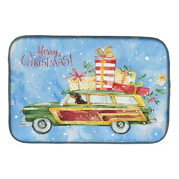 Merry Christmas Dachshund Dish Drying Mat CK2443DDM