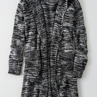 AEO Women's Dont Ask Why Long Hooded Sweater (Black)