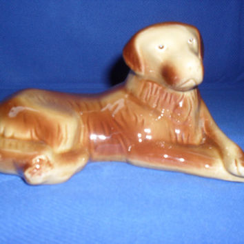 Vintage Ceramic Labrador Dog Figurine