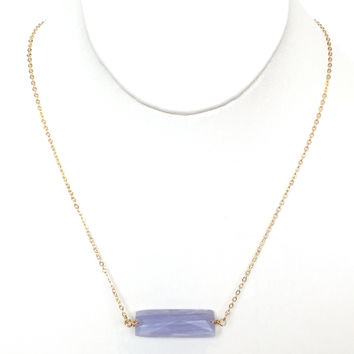 Dry Bar Pendant Necklace In Lilac