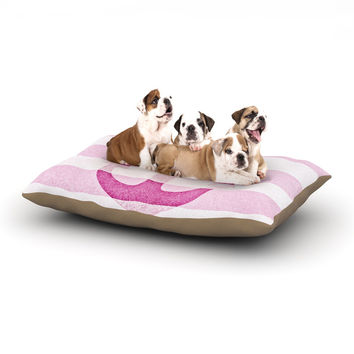 "Monika Strigel ""Stone Vintage Pink Anchor"" Dog Bed"