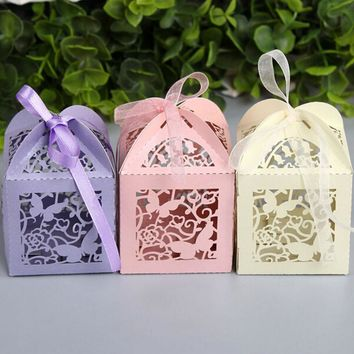 New: 20pcs Laser Cut Butterfly Paper Candy Boxes Wedding Decoration