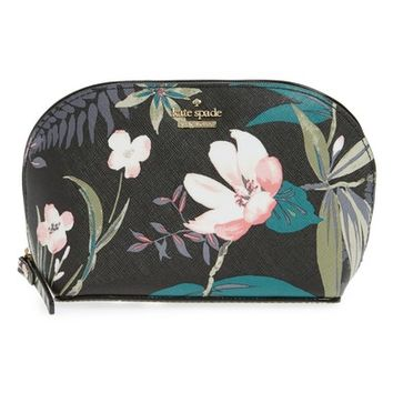 kate spade new york cameron street - small botanical abalene faux leather cosmetics case | Nordstrom