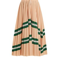 High-rise chevron-striped pleated jersey skirt | Valentino | MATCHESFASHION.COM UK