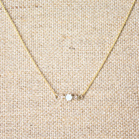 Moonstone Bar Necklace - Default Title