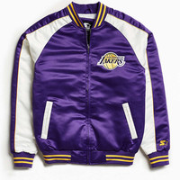 Starter X UO NBA Los Angeles Lakers Souvenir Jacket - Urban Outfitters