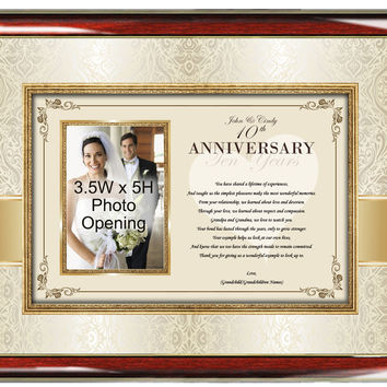 Mom and Dad Anniversary Photo Frame