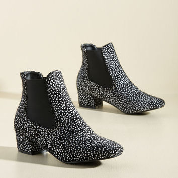 Get Up and Go-Go Bootie in Black Dots