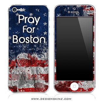 Pray For Boston iPhone Skin