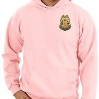 9/11 Hoodie Sweatshirt Never Forget Police Badge Emblem Adult Pink Pullover Hooded Hoody