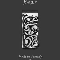 Bear Money Clip in Pewter by Frederick Design