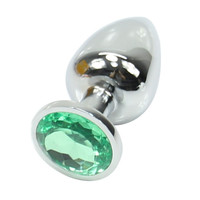 E79   1PC Butt Toy Plug Anal Insert Stainless Steel Metal Plated Jeweled Sexy Stopper Large