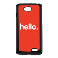 Hello Black Hard Plastic Case for LG L90 by textGuy
