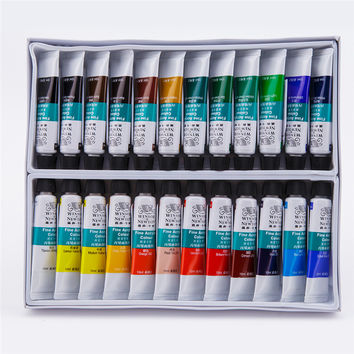 24 Colors/Set Art Set Drawing Tool Acrylic Paints Paint on Canvas Glass Paper DIY Drawing Children Artist Painting Set