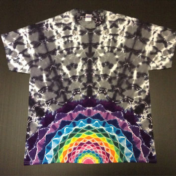 Tie Dye Shirt, Rising Mandala Star Burst, Size XL, Extra Large