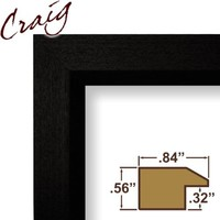 Craig Frames 7171610BK 24 by 36-Inch Poster Frame, Wood Grain Finish, .825-Inch Wide, Solid Black