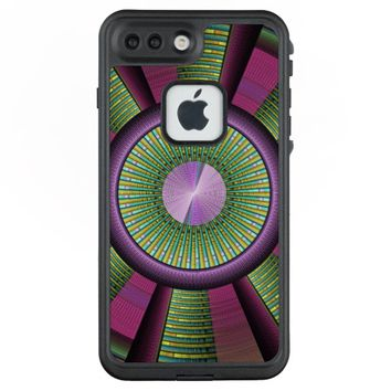 Round And Colorful Modern Decorative Fractal Art LifeProof® FRĒ® iPhone 7 Plus Case