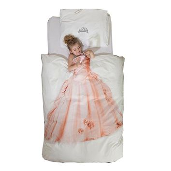 Holland imported cotton cartoon girl evening dress cute fluffy dress quilt bed pillowcase Sleeping Beauty three pieces luxury